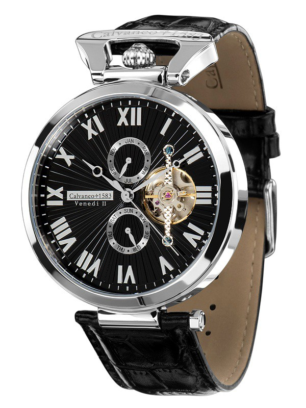 "1583 ""Venedi Steel Black"" High Luxury Automatikuhr"