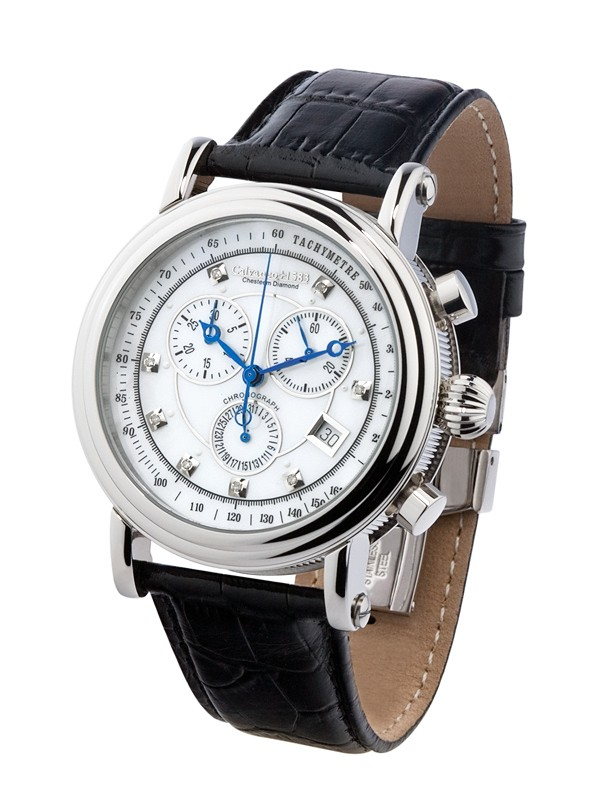 "1583 Chesteem ""Steel Diamond Perlmutt"" Chronograph Swiss ISA"