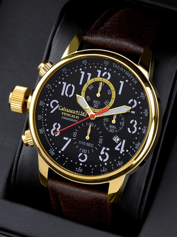 1583 Vengalis Gold Spirit - Leftside Chronograph Komplikation